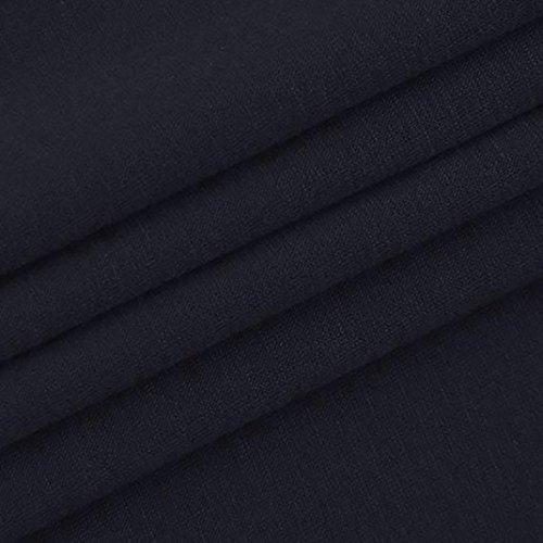 avec Shirts Shirts T Shirts Femme Coton en T T Femme Femme T Longues lgant Blouse Femme Boutons Shirts Tops MVPKK Manches Shirts Epissage T T Shirts Chic Marine Hiver Automne Col Femme V Treillis OdRqyaw
