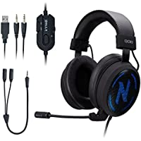 NEBULA GX30 On-Ear 3.5mm Wired Gaming Headphones with Microphone (Black)