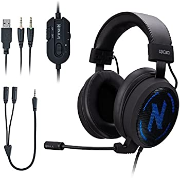 NEBULA GX30 On-Ear 3.5mm Wired Gaming Headphones with Microphone
