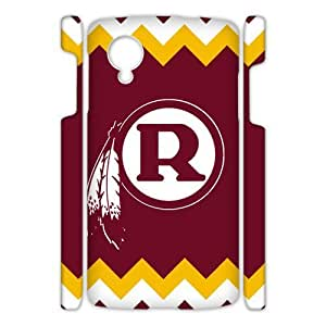 Hoomin Washington Redskins Red Yellow White Chevron Google Nexus 5 3D Cell Phone Cases Cover Popular Gifts