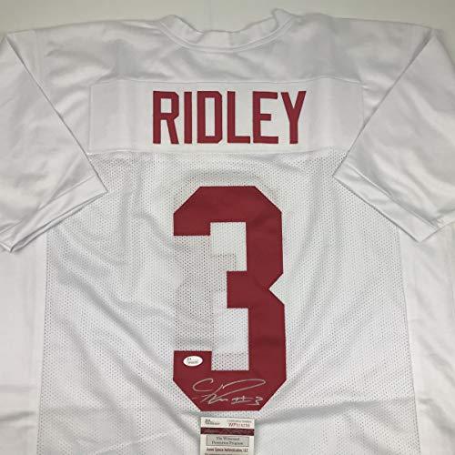 5aa762baf41 Autographed/Signed Calvin Ridley Alabama White College Football Jersey JSA  COA