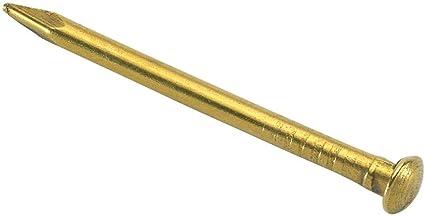 "3//4/"" 20mm CHALLENGE 40g Pack Brass Plated Escutcheon Pins"