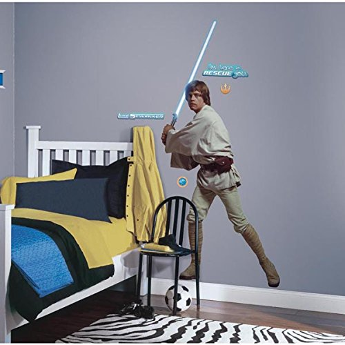 Roommates Rmk1587Gm Star Wars Classic Luke Peel And Stick Giant Wall Decal