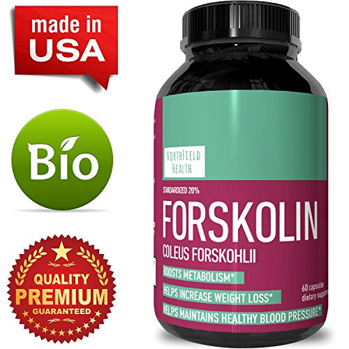 Pure Coleus Forskolin Extract – Helps Burn Fat & Improve Metabolism – Natural Weight Loss Supplement for Men & Women – Antioxidant Rich – Pure Herbal & Non GMO Ingredients By Northfield Health