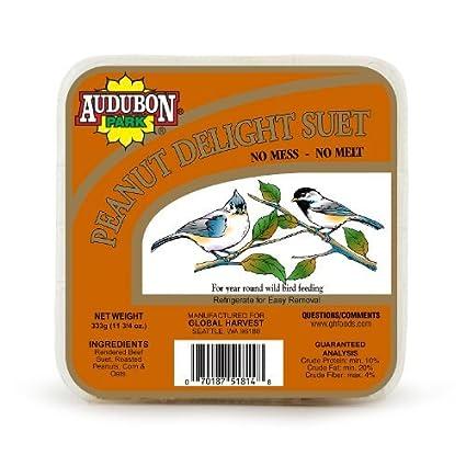 Audubon Park 1847 Peanut Delight Suet Cake, 11.75 Ounce Outdoor, Home,  Garden