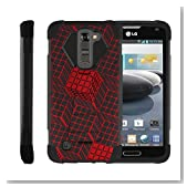 LG Escape 3 | K8 | Phoenix 2 Case, Armor Cover [SHOCK FUSION] Built In Kickstand Case with Customized Designs by Miniturtle® - Rubik's Illusion