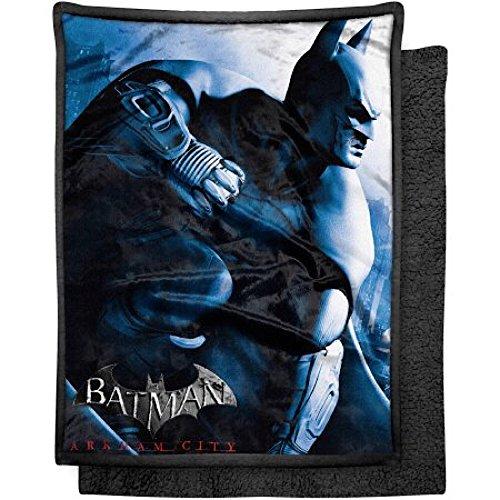 "Price comparison product image Batman Arkham City Blanket Mink Sherpa Throw - 46"" x 60"""