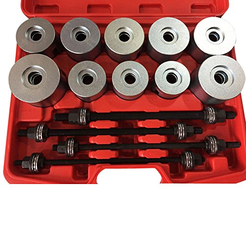 Qp-SUNROAD 24pcs Universal Press and Pull Sleeve Kit Bearing Seal Bush Insertion Sleeve Extraction Removal Tool Set w/Case by Qp-SUNROAD (Image #3)