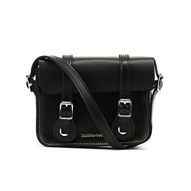 9fac698f5060 Amazon.com: Dr. Martens Black Kiev Leather Satchel -7-Inch: Clothing