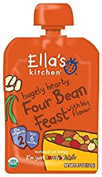 Ella\'s Kitchen 2 Meals - Hugely Hearty Four Bean Feast - 4.5 oz - 6 Pack