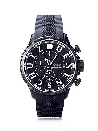 Herren Armbanduhr Schwarz Weiss