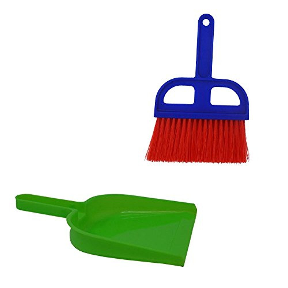 Kitchen Counters Drawers Desks Bathrooms Great for Cleaning Compact Spaces Fun Colors Mini Whisk Broom and Dustpan set Compact Storage Campers /& Tents and More Cars Offices Cabinets