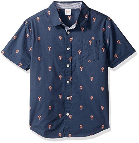 (Gymboree Boys' Big Novelty Print Shirt, Lobster,)
