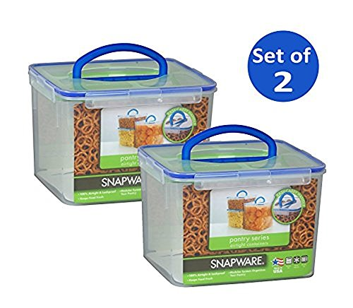 Snapware 1098436 29 Cup Large Rectangle Storage Container With Handle 2 Pack