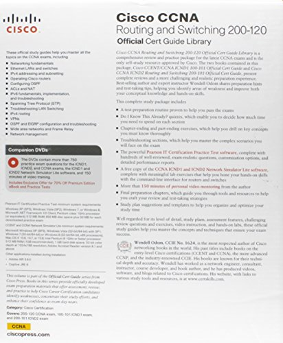 CCNA Routing and Switching 200-120 Official Cert Guide Library & CCENT/CCNA ICND1 100-101 Official Cert Guide