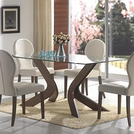 Delicieux GLASS TOP DINING TABLE, F/WLN,70.7x35x30