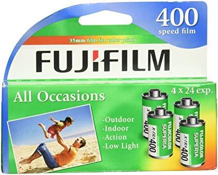 Fujifilm Genuine Superia X-TRA ISO 400 35mm Color Film - 24 Exposures, 4 Pack