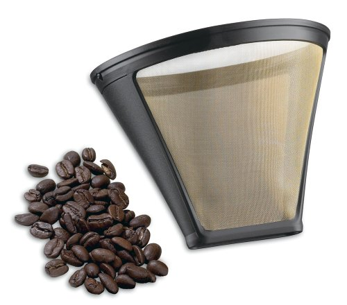 - Cuisinart GTF-4 Gold Tone Filter for Cuisinart 4-Cup Coffeemakers, Gold/Black