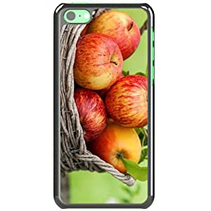 Apple iPhone 5C Cases Customized Gifts Of Photography photography basket of apples 16567 Black