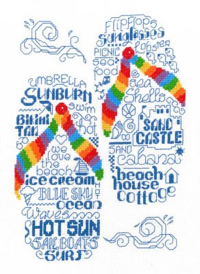 Let's Go To the Beach Cross Stitch Chart