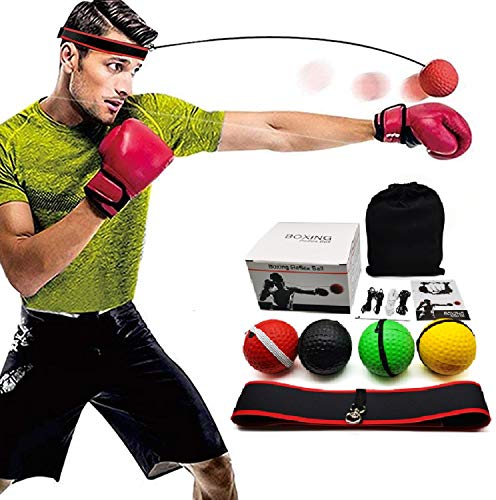 Boxing Reflex Ball – Boxing Equipment Fight Speed, Boxing Gear Punching Ball Great for Reaction Speed and Hand Eye…