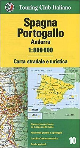 Portogallo Spagna Cartina.Amazon It Spagna Portogallo Andorra 1 800 000 Carta Stradale E Turistica Ediz Multilingue Aa Vv Aa Vv Libri