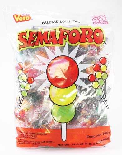 LA Crafts #28 of 34 Different Mexican Candy to Choose From for Parties, Pinatas, Halloween, and Other Events (Vero Semaforo - 80 pcs)]()