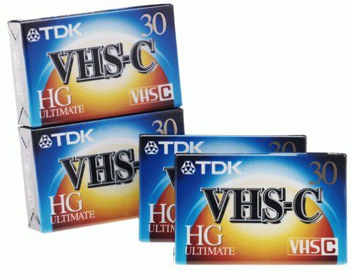 TDK VHS-C Video Tape (4-Pack) (Discontinued by Manufacturer) by TDK