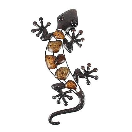 Liffy Metal Gecko Wall Art Lizard Outdoor Decor Garden Decorations Bronze 15 Long