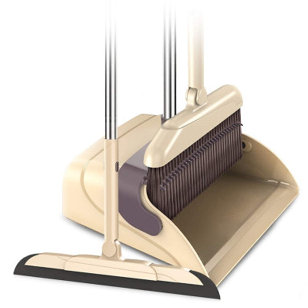Home Clean Rotary Broom Dustpan Set Windproof Scratch Design Broom Dustpan Magic Scratch Set (Color : 3) by Broom&Dustpan