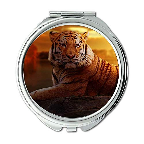 Price comparison product image Mirror,makeup mirror,animal big cat jungle,pocket mirror,portable mirror