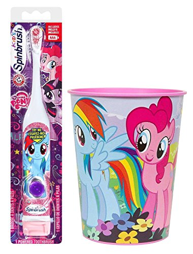 My Little Pony Rainbow Dash Toothbrush Bundle: 2 Items – Spinbrush Toothbrush, My Little Pony Kids Rinse Cup