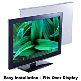 EYES PC blue light screen protector panel for 26'-28' Diag. LED PC monitor (W 24.80' X H 15.55'). Blue light blocking up to 100 percent of HEV blue light from LED screens. Reduces digital eye strain!