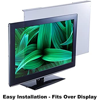 """Blue Light Screen Protector Panel For 26""""/27""""/28"""" Diagonal LED PC Monitor (W 24.80"""" X H 15.55"""") (W630mm x 395mm). Blue Light Blocking up to 100% of Hazardous HEV Blue Light from LED screens. Reduces Digital Eye Strain to benefit eye health. For office or home PC's to promote Healthy Eyes for Working People. For 26""""-28"""" diagonal screen."""