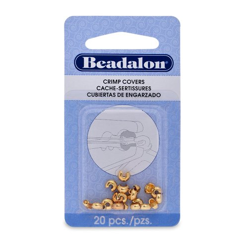 Artistic Wire Beadalon Crimp Cover 4mm Nickel Free Gold Plated, 20-Piece