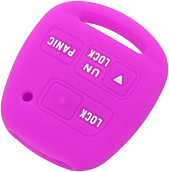 SEGADEN Silicone Cover Protector Case Holder Skin Jacket Compatible with TOYOTA LEXUS 3 Button Remote Key Fob CV2422 Pink