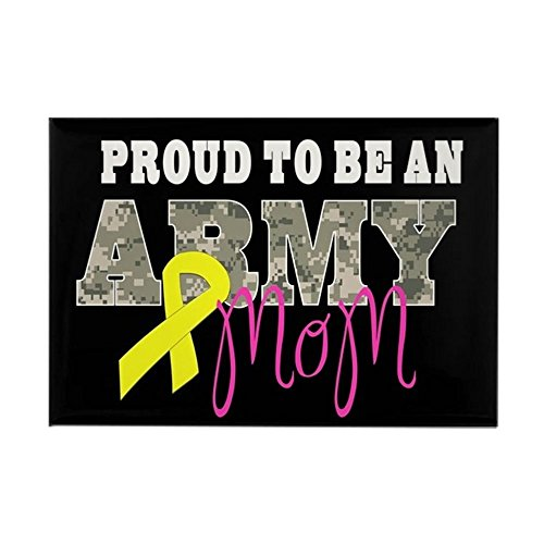 CafePress Proud To Be Army Mom Magnets Rectangle Magnet, 2