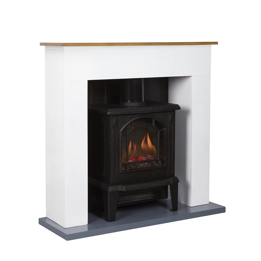 Warmlite WL45037 Compact Stove Fire Suite, 1800 W, Black