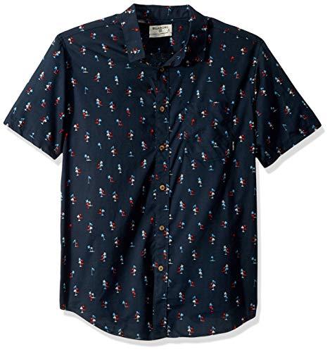 Billabong Men's Sundays July Short Sleeve Shirt Navy Large