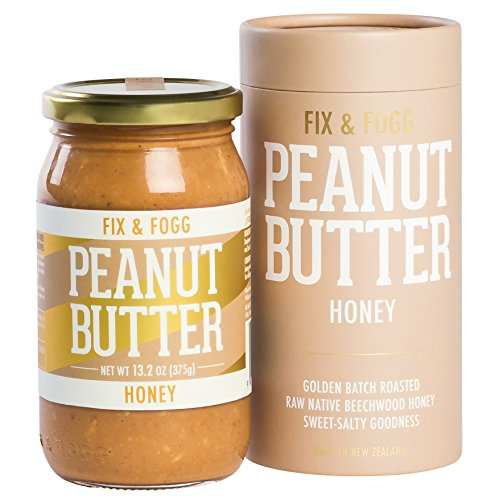 Fix & Fogg Honey Peanut Butter, All Natural, Non-GMO, Vegetarian, Keto and Paleo friendly. Handmade in New Zealand. (13.2 oz)