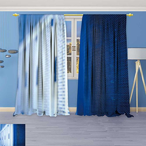 SOCOMIMI Kids Room Planets Curtains (5147 Panels),Server Rack Cluster in a Data Center Shallow dof Color Toned Thermal Insulated Blackout Curtains with Star Prints, 120W x 96L inch -