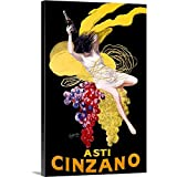 Canvas on Demand Premium Thick-Wrap Canvas Wall Art Print entitled Cinzano Asti Aperitif Wine Vintage Advertising Poster 16''x24''