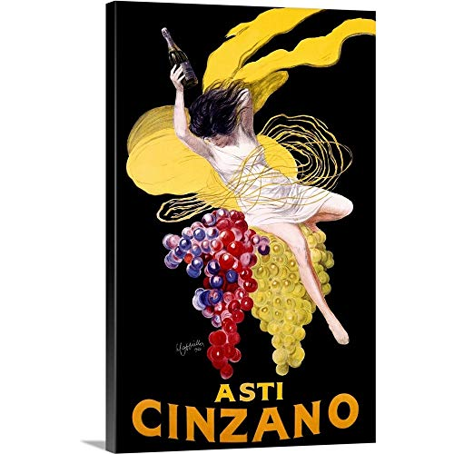 (Cinzano Asti Aperitif Wine Vintage Advertising Poster Canvas Wall Art Print, 24