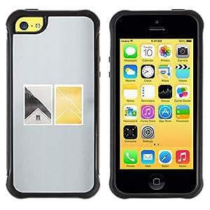 Suave TPU GEL Carcasa Funda Silicona Blando Estuche Caso de protección (para) Apple Iphone 5C / CECELL Phone case / / House Window Deep Minimalist /