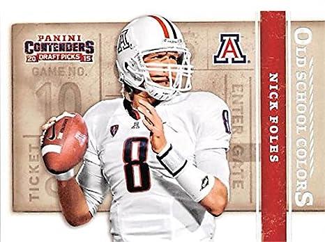 ec50b6702f4 Nick Foles football card (University of Arizona Wildcats Philadelphia  Eagles Super Bowl MVP) 2015 Contenders Draft Picks #40 Old School Colors at  Amazon's ...