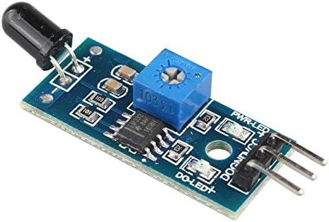 haljia módulo de Sensor de llama por infrarrojos Detector SmartSense receptor de infrarrojos módulo de Control de temperatura Detección Compatible con ...