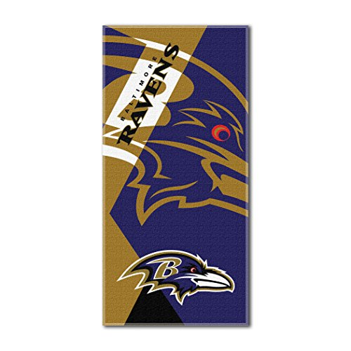 The Northwest Company Officially Licensed NFL Baltimore Ravens Puzzle Beach Towel, 34
