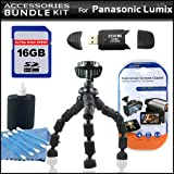 Accessory Kit For The Panasonic Lumix DMC-LX5 Digital Camera Includes 16GB High Speed SD Memory Card + High Speed 2.0 USB SD Card Reader + Gripster Tripod + LCD Clear Screen Protectors + More
