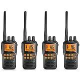 Uniden MHS75 JIS8 Waterproof Two Way VHF Marine Radio ( 4 Pack )