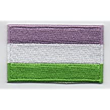 """Genderqueer Flag Iron On Patch 2 1/2"""" x 1 1/2"""""""